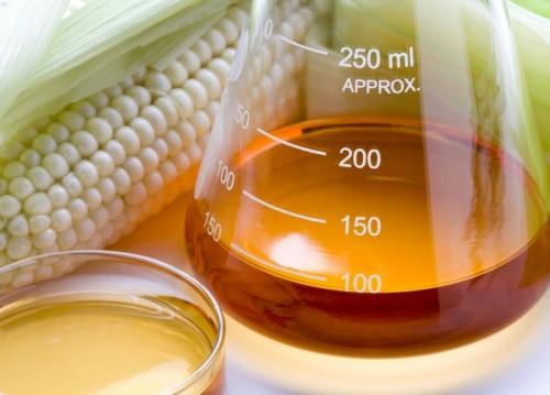 Biofuel in a beaker