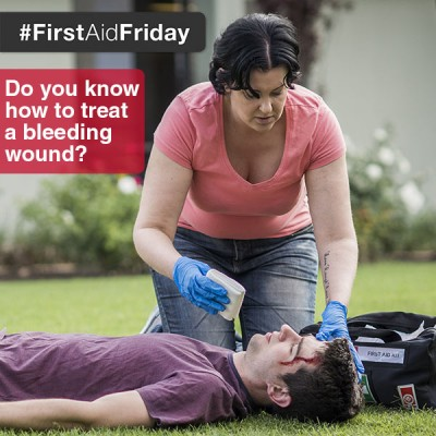 Do you know how to treat a bleeding wound?