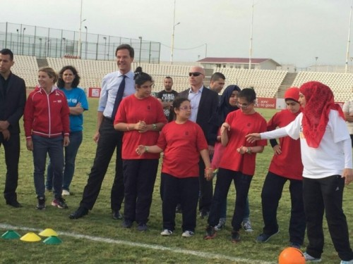 Minister President Rutte in Beirut. Foto: Hussein Baydoun
