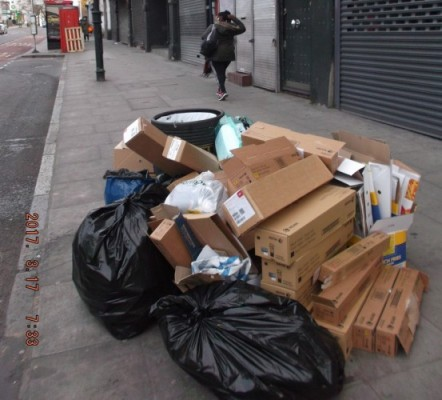 Rubbish dumped